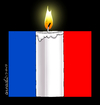 Cartoon: A cartoon of silence. (small) by Cartoonarcadio tagged france,paris,war,terrorism,muerte,rehenes