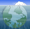 Cartoon: A torn planet. (small) by Cartoonarcadio tagged planet,earth,environment,pollution,global,warming