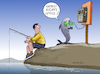 Cartoon: Animal Rights. (small) by Cartoonarcadio tagged humor,fish,ocean,fishing