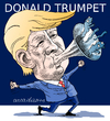 Cartoon: Donald Trumpet (small) by Cartoonarcadio tagged trump,usa,elecctions,republicans,mexico,latin,america