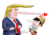 Cartoon: Enchanted Pinocchio. (small) by Cartoonarcadio tagged trump,pinocchio,usa,white,house,wadhington