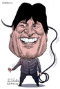 Cartoon: Evo Morales-Bolivia (small) by Cartoonarcadio tagged evo,president,latin,america,bolivia,socialism,comunism