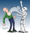 Cartoon: Machines taking the human soul. (small) by Cartoonarcadio tagged machines,human,soul,computer,systems,future,tomorrow,internet