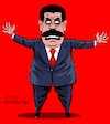 Cartoon: Maduro is going crazy. (small) by Cartoonarcadio tagged maduro,venezuela,socilaism,dictatorship