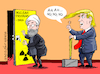 Cartoon: No to nuclear program. (small) by Cartoonarcadio tagged trump,iran,nuclear,program,usa