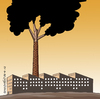 Cartoon: No...it is not a tree. (small) by Cartoonarcadio tagged planet,environment,earth,polution,deforestation,energy