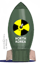 Cartoon: North Korean bomb. (small) by Cartoonarcadio tagged bomb,north,korea,koreas,trump,usa,us,government,japan
