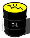 Cartoon: Oil prices down (small) by Cartoonarcadio tagged oil,prices,market,gasoline,energy