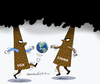 Cartoon: Pollution game. (small) by Cartoonarcadio tagged pollution,smog,global,warming,climate,change,planet,world,environment,cop21