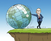 Cartoon: Putin in dangerous position (small) by Cartoonarcadio tagged putin,russia,crisis,europe,otan,usa