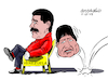Cartoon: The fall of Evo. (small) by Cartoonarcadio tagged evo,morales,bolivia,latin,america,politicians,dictatorship