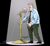 Cartoon: The man and the sweet microphone (small) by Cartoonarcadio tagged man,microphone,icecream,sweet,food