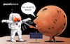 Cartoon: The martians are prevented. (small) by Cartoonarcadio tagged earth,mars,pollution,global,warming