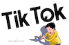 Cartoon: Tik Tok looking at you. (small) by Cartoonarcadio tagged social net china internet