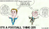 Cartoon: Harry Redknapp and Arsene Wenger (small) by bluechez tagged football,spurs,arsenal,wenger,redknapp