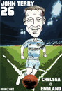 Cartoon: John Terry  Chelsea and England (small) by bluechez tagged chelsea john terry england football