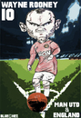 Cartoon: Wayne Rooney Man Utd and England (small) by bluechez tagged football,premiership,manchester,united,wayne,rooney,england,striker