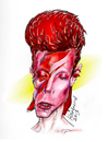 Cartoon: A Lad Insane. David Bowie. (small) by Harbord tagged david,bowie,aladdin,sane,album,caricature