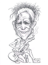Cartoon: Keith Richards (small) by Harbord tagged keith richards rolling stones caricature