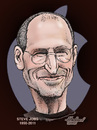 Cartoon: Steve Jobs (small) by Harbord tagged steve jobs apple mac