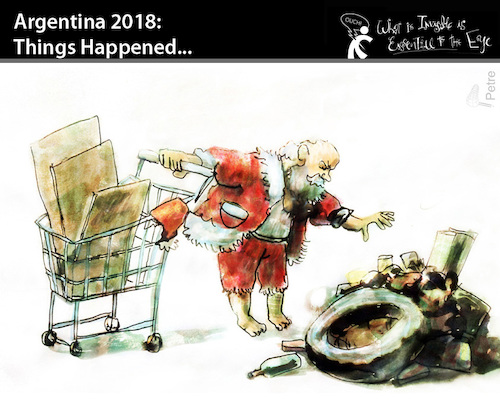 Cartoon: ARGENTINA 2019 Things Happened.. (medium) by PETRE tagged christmas,xmas,crisis,argentina,santa