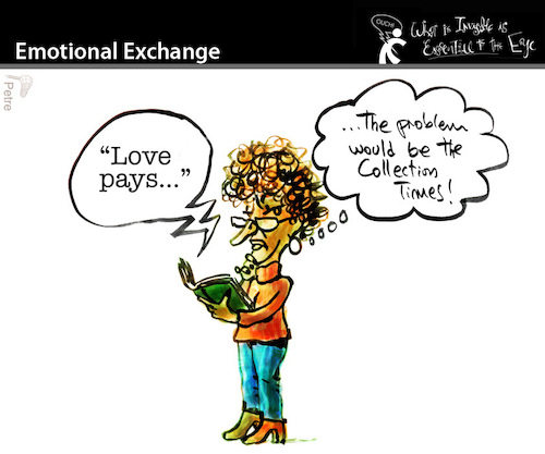 Cartoon: Emotional Exchange (medium) by PETRE tagged love,couples,life
