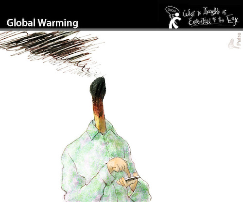 Cartoon: Global Warming (medium) by PETRE tagged social,network,twitter,facebook,nets