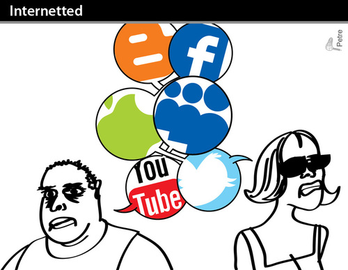 Cartoon: Internetted (medium) by PETRE tagged web,social,network