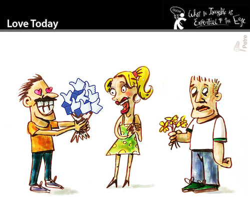Cartoon: Love Today (medium) by PETRE tagged facebook,nets,internet,relations