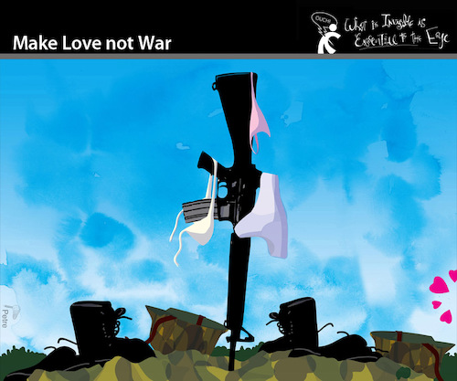 Cartoon: Make Love not War (medium) by PETRE tagged lovenotwar,love,war