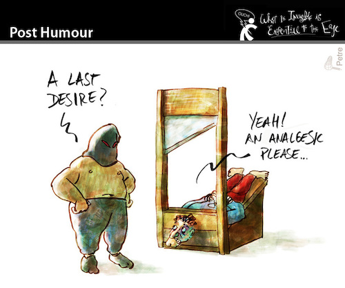 Cartoon: Post Humour (medium) by PETRE tagged pain,head,death