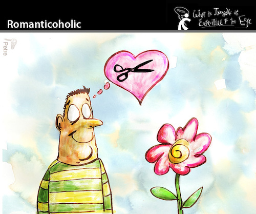 Cartoon: Romanticoholic (medium) by PETRE tagged love,couples,life