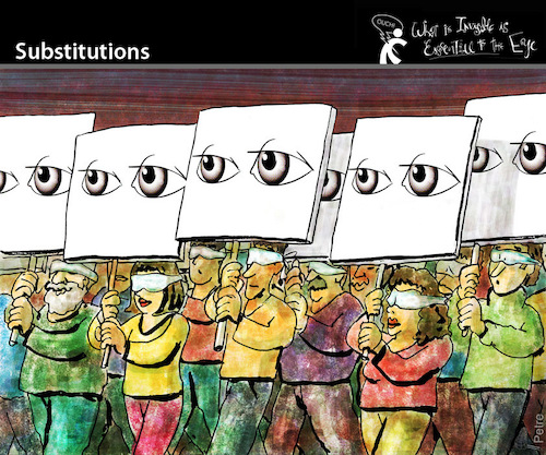 Cartoon: Substitutions (medium) by PETRE tagged power,parties,people,representation,democracy,masses