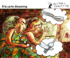 Cartoon: A la carte dreaming (small) by PETRE tagged sleeping,dreaming