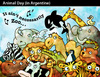Cartoon: ANIMAL DAY in Argentine (small) by PETRE tagged nature wild lire