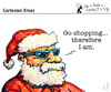 Cartoon: Cartesian Xmas (small) by PETRE tagged christmas,santaclaus