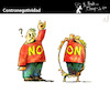 Cartoon: Counter Negativity (small) by PETRE tagged negativity positivity mirror reflex