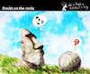 Cartoon: Doubt on the Rocks (small) by PETRE tagged easterisland,moai,rolling,music