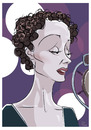 Cartoon: Edith Piaf (small) by PETRE tagged piaf,singer,france