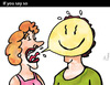 Cartoon: If you say so (small) by PETRE tagged language,couples,discussions