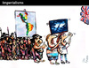 Cartoon: IMPERIALISMS (small) by PETRE tagged indigenous peoples war invasion america falklands argentina united kingdom