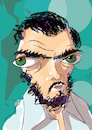Cartoon: Julio Cortazar (small) by PETRE tagged literature argentina rayuela