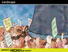 Cartoon: Landscape (small) by PETRE tagged economics,social,politics,manifestation,power