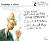 Cartoon: Language is a Virus (small) by PETRE tagged politics correction education speechs