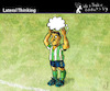 Cartoon: Lateral Thinking (small) by PETRE tagged football toughts
