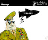 Cartoon: Message (small) by PETRE tagged peace militar army war speech