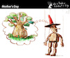Cartoon: Mother Day (small) by PETRE tagged mother,maternity,puppet,wood,tree