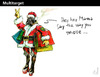 Cartoon: Multitarget (small) by PETRE tagged christmas,santaclaus