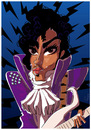 Cartoon: Prince (small) by PETRE tagged prince rock star eighties guitarist caricature