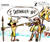 Cartoon: Surprise (small) by PETRE tagged colombus,discovery,america
